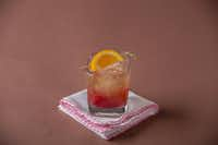 This Cranberry Manhattan cocktail is no doubt delicious, caloric and tipsy-inducing. Sip it and perhaps have a glass of club soda or water before your second one.<div><br></div>(G.J. McCarthy/Staff Photographer)