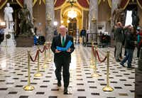 Rep. Kevin Brady, R-The Woodlands, heads to a meeting with House Speaker Paul Ryan, R-Wis., on the tax bill earlier this month.(Al Drago/The New York Times)
