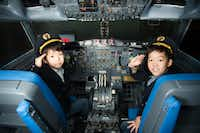 A promotional photo shows how kids can try their hand as a pilot in KidZania, an educatinal center coming to Stonebriar Centre mall in Frisco in 2019.(KidZania USA)