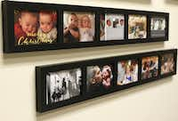 Photos from families who had a child carried by a surrogate are displayed on the office walls of Stephanie Scott, co-owner of Simple Surrogacy in Dallas.(David Woo/Staff Photographer)