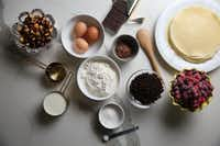 Ingredients for Chocolate Hazelnut Crepe Cake(Rose Baca/Staff Photographer)