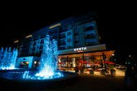 Fountains in front of North Italia, a new restaurant at Legacy West, in Plano.(Anja Schlein/Special Contributor)