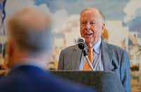 College athletic boosters can sometimes be powerful people. Dallas oil tycoon and Oklahoma State megabooster T. Boone Pickens' name came up immediately when Oklahoma Rep. Frank Lucas was asked about how the GOP tax plan would eliminate a booster tax break. (Jae S. Lee/Staff Photographer)
