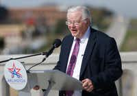 Rep. Joe Barton, R-Ennis, fought to keep the city of Arlington from taking a big tax hit on its financing plan for the new Texas Rangers stadium.(Rose Baca/Staff Photographer)
