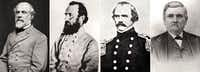 "The Dallas ISD board of trustees is considering renaming four schools named after Confederate generals: (from left) Robert E. Lee, Thomas ""Stonewall"" Jackson, Albert Sidney Johnston, and William L. Cabell."