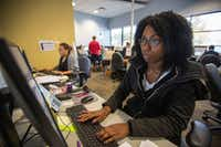 "<p><span style=""font-size: 1em; background-color: transparent;"">Candace Mosely, who wants to be an ""intake specialist"" at the Texas Abuse Hotline, takes calls during a hands-on training session at the Texas Department of Family and Protective Services' Statewide Intake Division in Austin. (</span><a name=""firsthit"" id=""firsthit"" style=""font-size: 1em; background-color: transparent;""></a><span style=""font-size: 1em; background-color: transparent;"">Thao Nguyen/Special Contributor)</span></p>"
