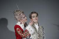 Jennifer Rivera as Queen Sophine and Jonathan Blalock as Prince Claus in the Dallas Opera's production of Mark Adamo's <i>Becoming Santa Claus.</i>(Ron Baselice/Staff Photographer)
