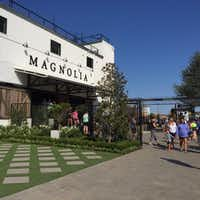 A new entrance and landscaping are part of the improvements made this summer at Magnolia Market at the Silos in Waco.
