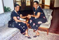 Dolores Swint (left) and Elores Stephens, pictured here in the mid-1990s, said their lives revolve around faith and family. Swint has two children — daughter LaTece Idlebird and son James Swint Jr. — and Stephens has one child, son Ernest Booker.(Courtesy of Dolores Swint)