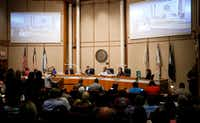 The Dallas County Commissioners Court meeting is held at the administration building in Dallas, Tuesday, May 2, 2017.(Jae S. Lee/Staff Photographer)