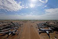 A view from the DFW Hub Control Center at Dallas/Fort Worth International Airport in DFW Airport, Texas, Friday, Aug. 18, 2017. (Jae S. Lee/The Dallas Morning News)