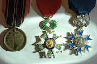 Some of the medals won by Robert de la Rochefoucauld(La Rochefoucauld family)