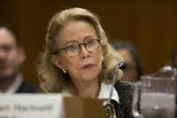 Kathleen Hartnett White appeared before a Senate committee in November during her confirmation hearing to be a member of the Council on Environmental Quality. (The Associated Press)