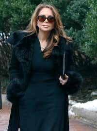 Blogger Pamela Geller arrives Tuesday, Dec. 19, 2017, at federal court in Boston for the sentencing hearing for David Wright, convicted of leading an Islamic State group-inspired plot to behead Geller. (Bill Sikes/AP)