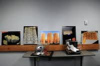 Some of the memorabilia seized during the break-up of a major sports gambling ring run out of North Texas is displayed at the Plano Police Department. The ring collected more than $5 billion in bets over a four-year span. (2013 File)
