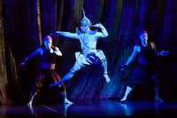 Royal Court Dancer (Jeoffrey Watson), center, in <i>The King and I</i> at the Winspear Opera House. (Ben Torres/Special Contributor)