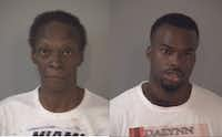 Frieda Bosh (left) and Johnathan Brown (DeSoto police and Tarrant County jail)