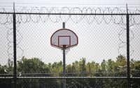 The basketball courts and recreation areas at Medlock in southern Dallas County.(Louis DeLuca/Staff Photographer)