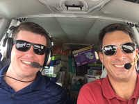 Brian Kelly (left) and Robert Johnson (right) delivering supplies for Operation Airdrop. (Robert Johnson)