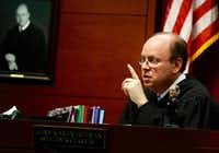 Judge Martin Hoffman, 68th Judicial District Court in Dallas.(David Woo/Staff Photographer)