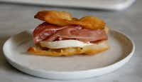 Gnocco grotto is a traditional Italian dish made of fried dough served with salumi or cold cuts and cheese.(Ron Baselice/Staff Photographer)