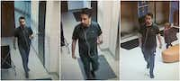 Police suspect this man seen in surveillance footage is suspected of burglary of a motor vehicle at a YMCA on Dec. 15.(University Park Police Department)