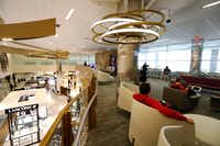 Dallas-Fort Worth International Airport and TRG opened the largest duty-free store in the Americas in Terminal D, featuring two levels, two elevators, four staircases, and extensive mezzanine lounge space in 17, 400 total square feet on Wednesday.(David Woo/Staff Photographer)