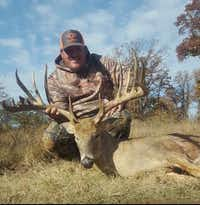 "<p><span style=""font-size: 1em; background-color: transparent;"">A game camera image of this 19-point buck taken in Grayson County provided evidence refuting John Walker Drinnon's claim he harvested the big deer in Oklahoma.</span></p>(Texas Parks and Wildlife Department)"