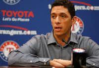 "Texas Rangers General Manager Jon Daniels: ""I think when it's pushed too heavily, it can be a turnoff.""(Jae S. Lee/Staff Photographer)"