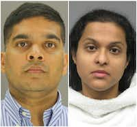 Wesley and Sini Mathews both face charges in the death of their adopted daughter.(Dallas County Jail)