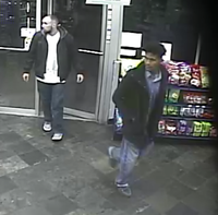 Police were searching for two men suspected in connection with a Dec. 21 shooting at a gas station.(Dallas Police Department)