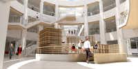 Redevelopment plans for J.C. Penney's corporate office in Plano show a total new look.(Contributed/HKS)