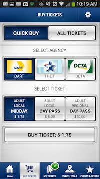 DART GoPass app(Dallas Area Rapid Transit)
