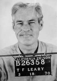 Timothy Leary's mugshot after he was arrested for possessing two marijuana cigarettes in California. (California Department of Corrections/Twelve)