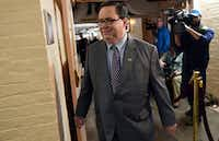 U.S. Rep. Blake Farenthold, R-Corpus Christi, arrives for a meeting of House Republicans on Capitol Hill in Washington on Dec. 19.(Susan Walsh/The Associated Press)