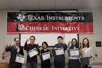 """<p>Speechcraft participants make a toast at their graduation ceremony.<span style=""""font-size: 1em; background-color: transparent;"""">(Qiguo Jing, Yuan Tian, Yan Ma, Yongbin Chu, Lindsey Sun, Susan Guo)</span></p>(Courtesy/Texas Dragon Toastmasters)"""