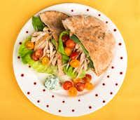 Greek chicken on a pita(Ashley Landis/Staff Photographer)
