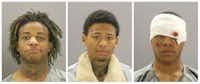 From left: Onedja Crumpton, Koreon Jones and Ladarrion Wallace(Dallas County Sheriff's Department)