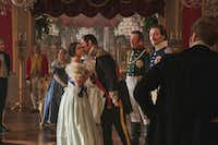 &nbsp;Jenna Coleman as Victoria, Alex Jennings as Leopold, Andrew Bicknell as the Duke of Coburg, and David Oakes as Ernest in&nbsp; <i>Victoria</i>.&nbsp; &nbsp;(TVStudios2017 for MASTERPIECE)