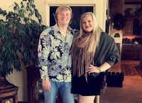 Bailee Adkins posted this photo of her and her brother Brett Adkins on Twitter after his death.(Twitter)