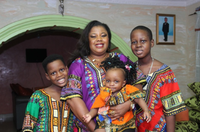 <p>Gloria Adekilekun and her three children, with Ayodeji at right.</p>(Courtesy/Family photo)