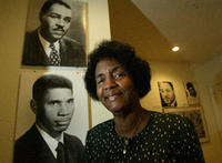 Mamie McKnight is shown in the home of the late Dallas civil rights leader Juanita Craft. McKnight was heavily involved in the home's preservation. (2004 File Photo/Staff)