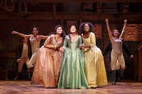"<p> <span style=""font-size: 1em; background-color: transparent;"">Karen Olivo, Ari Afsar and Samantha Marie Ware in the Chicago production of <i>Hamilton </i>in 2016. </span></p><p></p>(Joan Marcus/ ©2016 Joan Marcus)"
