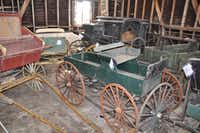 Old-timey vehicles, some of which actually work. <div><br></div>(Facebook/Alamo Village)