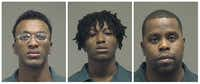 From left: Orland Isiah Brown, Jarius Jermel Jefferson, Willi Fuchron Word.(Collin County Sheriff's Office)