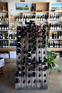 Interior of Le Caveau Vinotheque wine shop (Rose Baca/Staff Photographer)