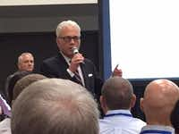 """<p><span style=""""font-size: 1em; background-color: rgb(255, 255, 255);"""">Charlie</span><span style=""""font-size: 1em; background-color: transparent;"""">Johnson speaking at the Texas Association of School Boards 2017 convention in Dal</span><wbr style=""""font-size: 1em; background-color: transparent;""""><span style=""""font-size: 1em; background-color: transparent;"""">las last fall.</span></p>(Dave Lieber/The Dallas Morning News)"""