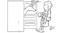 Illustration from the October 24, 1977 edition of the Line One column<br><br>