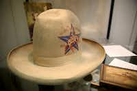A commemorative hat from the Texas Centennial Exposition in 1936 worn by oil tycoon H.L. Hunt.(Rose Baca/Staff Photographer)