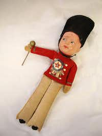 A souvenir drum major doll from the Texas Centennial Exposition in 1936.(Rose Baca/Staff Photographer)